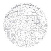 Adventure emblem — Stock Vector