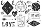 Valentine's day design elements — Stock Vector