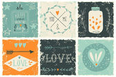 Valentine's day design elements — Stock vektor