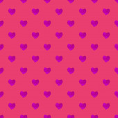 Watercolor seamless pattern with hearts — Stock Photo