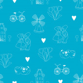 Seamless pattern with Dutch ornaments — Stock Photo