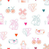 Seamless pattern with Dutch ornaments — 图库照片