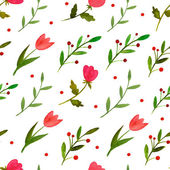Watercolor floral seamless pattern  — Stock Vector