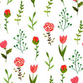 Watercolor floral seamless pattern  — ストックベクタ