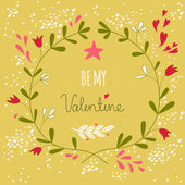 Greeting illustration for the Valentine's day or a wedding — Stock Vector