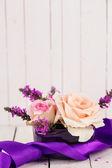 Peach roses — Stock Photo