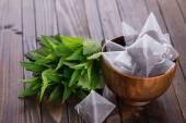 Herbata w saszetkach — Zdjęcie stockowe