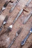Silverware forks, knife — Stock Photo