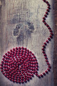Spiral from red beads  — Stock Photo