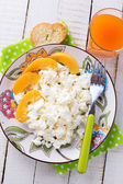 Cottage cheese for breakfast — Stock fotografie