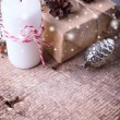 Festive gift boxes — Stock Photo #61529463