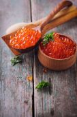 Red caviar — Stockfoto