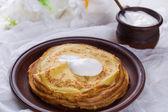 Pfannkuchen oder crepes — Stockfoto