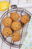 Muffins with lemon — Stock Photo