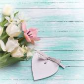 Background with fresh flowers — Stock Photo