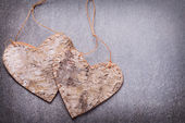 Two decorative hearts — Stock Photo