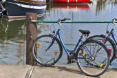 Bike at a pier — Stock Photo