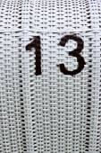 Beach Chair Number 13 — Stock Photo