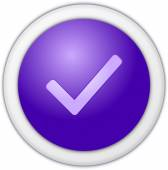 Authorize button purple — Stock Photo