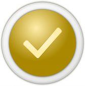 Authorize button gold — Stock Photo