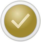 Authorize button yellow — Stock Photo