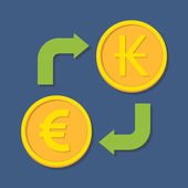 Currency exchange. Euro and Kip. — Stok Vektör