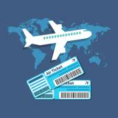 Traveling, Ticket booking concept. Flat design stylish. — Stock Vector