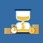 Time is money concept. Flat design stylish. — Stock Vector