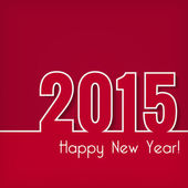 2015 Happy New Year design over red background. — Stockvektor