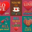Unusual inspirational love posters. Set 1. — Stock Vector #70828029