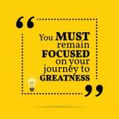 Inspiradora citação motivacional. Você tem que estar concentrado em você — Vetor de Stock
