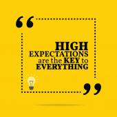 Inspirational motivational quote. High expectations are the key — Stock Vector