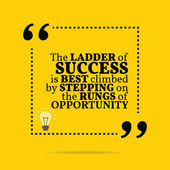 Inspirational motivational quote. The ladder of success is best — Stock Vector