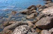 Rocky coast of the Black Sea — Stock Photo