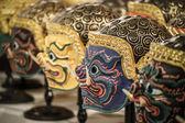 Hua khon (máscara tradicional tailandesa) utilizado en khon - danza tradicional tailandesa del ramayana saga — Foto de Stock