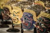 Hua khon (maschera tradizionale tailandese) utilizzato in khon - danza tradizionale tailandese della saga ramayana — Foto Stock