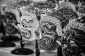 Hua Khon (Thai Traditional Mask) Used in Khon - Thai traditional dance of the Ramayana Epec Saga — Stock Photo