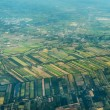 Aerial Shot on a landscape of the Outskirts of Bangkok — Stock Photo #57527903