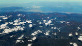 Aerial Shot of Sky Background with Clouds — Stock Photo