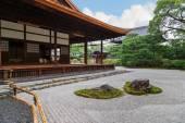Zen Garden at Kennin-ji Temple in Kyoto Japan — Stock Photo