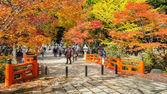和歌山県の高野山 (高野山) の墓地エリアと Eireiden 寺 — ストック写真