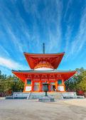 Konpon Daito Pagoda at Danjo Garan Temple in Koyasan area in Wakayama, Japan — Stock Photo