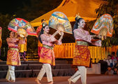 Thai Culture Festival - Fan Dance of the Southern Thailand — Stock Photo