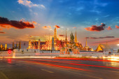Wat Phra Kaew - Buda templo de esmeralda en Bangkok, Tailandia — Foto de Stock