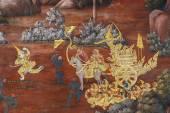 タイ、バンコクのワット ・ シーラッタナーサーサダーラームでの壁画 — ストック写真