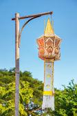 Linterna de papel del estilo tailandés norteño — Foto de Stock