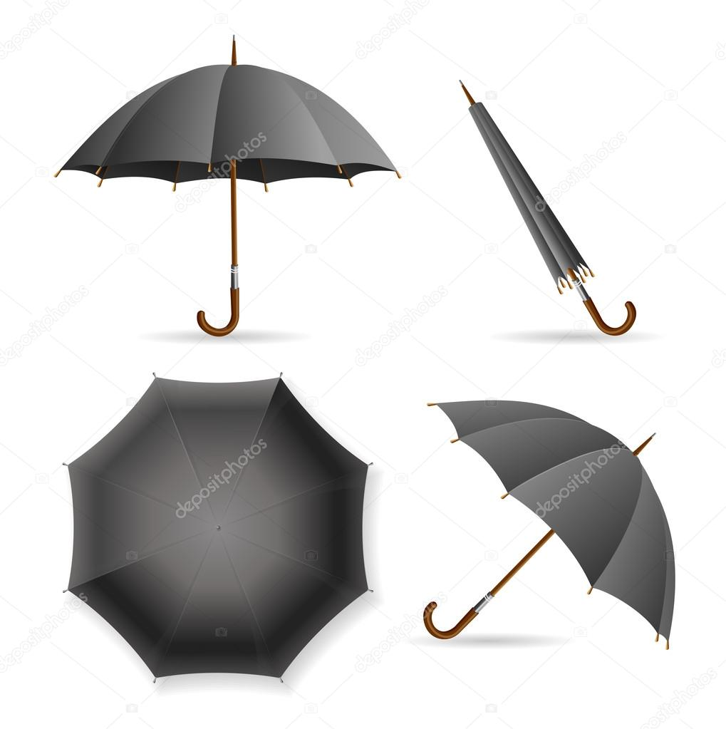 Black Umbrella Template Set Vector Vector mousemd – Umbrella Template