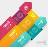 Vector infographics options banner 1 2 3 — Stock Vector
