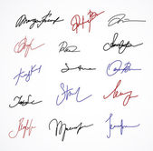 Vector Signature fictitious Autograph on white — Stock Vector