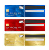Vector Credit Card set two sides. — Stock Vector
